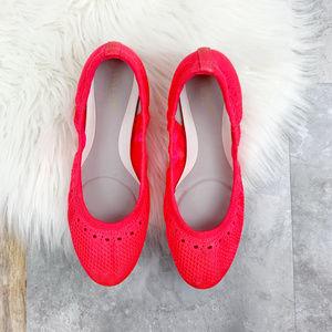 Cole Haan Neon Pink Knit Ballet Flats Sz 7.5